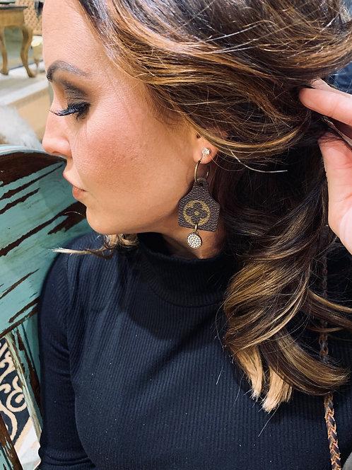 Louie Cow Tag earrings