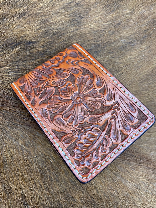 Tooled Leather Money Clips