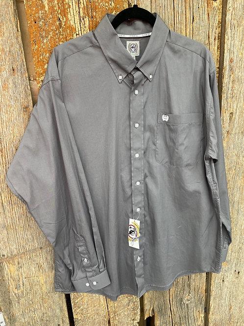 Grey Men's Cinch Button Up