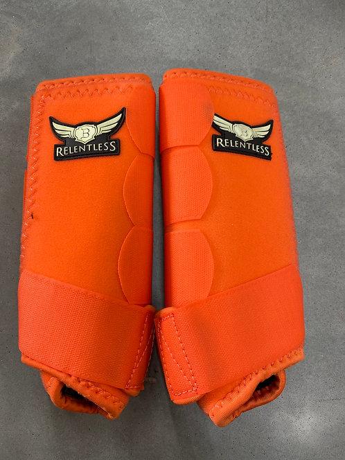 Orange Small Front Relentless Splint Boots
