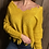 Thumbnail: Distressed Edge Mustard Sweater.