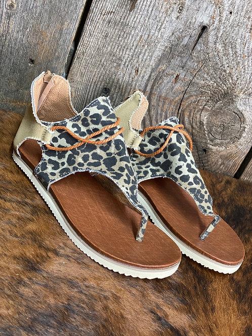 Leopard Gladiator Sandals