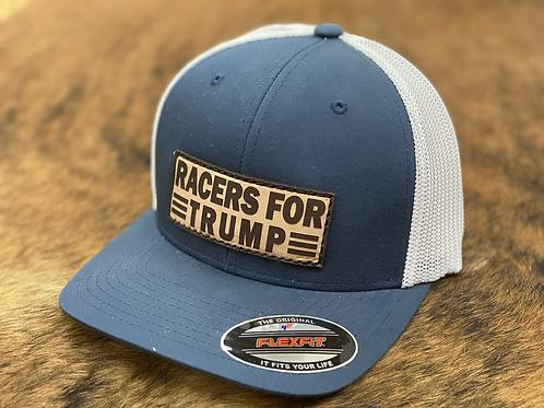 Race Ranch Racers For Trump Navy / White - Flexfit Patch hat