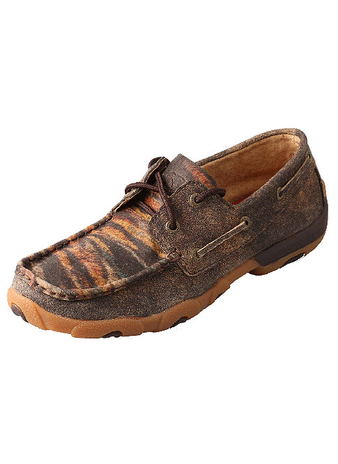 Women's Driving Moccasin – Distressed/Tiger Lows WDM0023