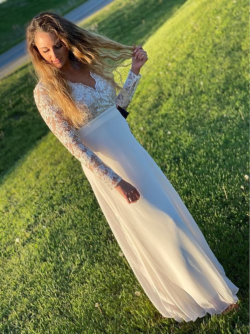 Lace Maxi Chiffon Dress