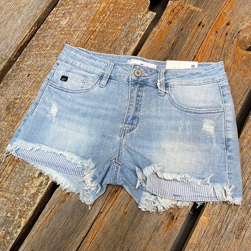 KanCan - Frayed Stonewash Shorts