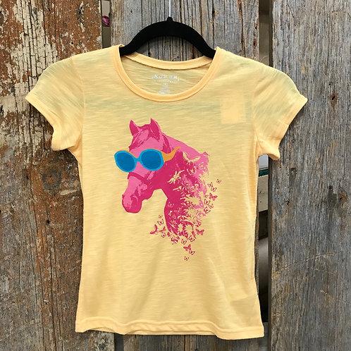 Girls Horses and Sunshie Roper Shirt
