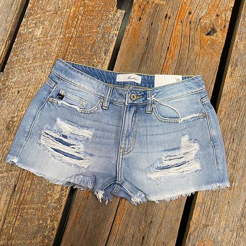 KanCan - Mid Rise Boyfriend fit Stone Wash Shorts