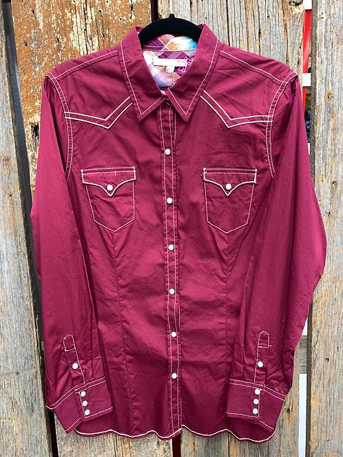 Ladies Tin Haul Western Button Down
