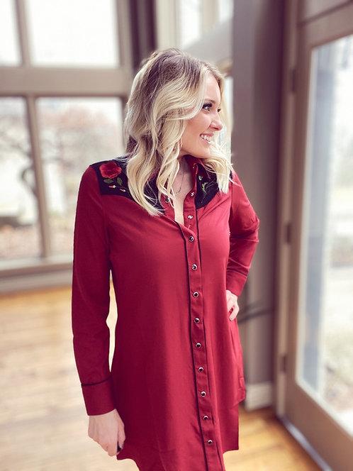 Roper Red Rose Dress