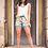 Thumbnail: L&B Cactus Printed Shorts with Studs 0013