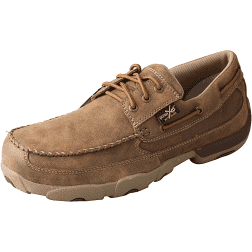 Men's Work Steel Toe Boat Shoe Driving Moc – MetGuard MDMSTM1