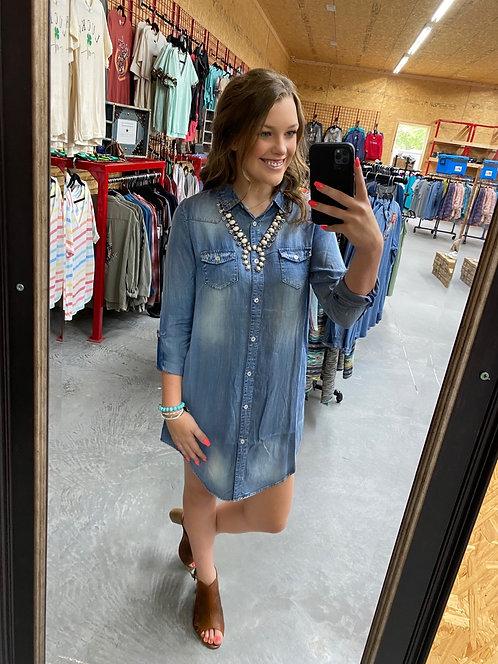 Denim Dress with side Pockets