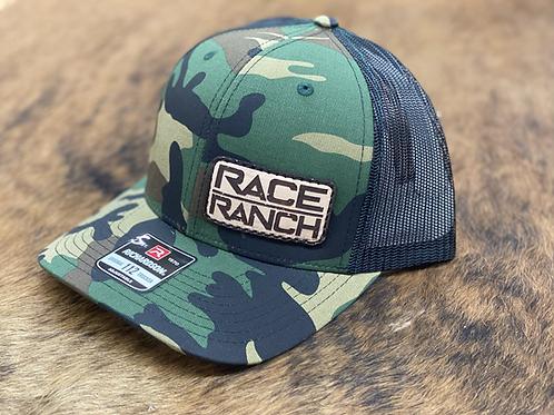 Race Ranch Camo / Black - Richardson 112 Patch hat