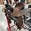 Thumbnail: Team JHA Saddle - Chocolate Hard Seat 45* Skirt