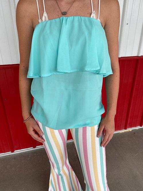 Mint Strapless Shirt