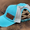 Thumbnail: Race Ranch Distressed Turquoise / Khaki- Ponytail Hat