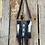 Thumbnail: Crossbody Handbag w/ Brown Fringe & Turquoise Slabs