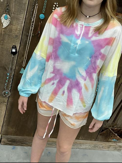 Tie dye loungewear set