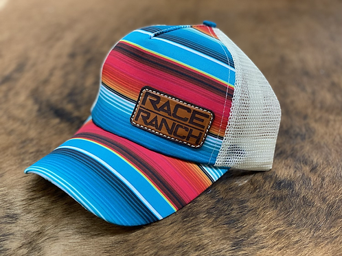 Race Ranch Serape / Khaki- Ponytail Hat