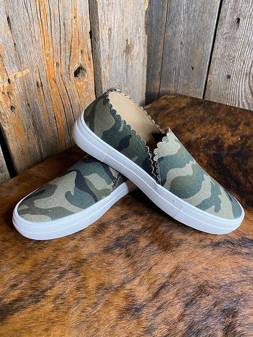 Camo Slip On Sneakers