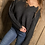 Thumbnail: Distressed Edge Black Sweater.