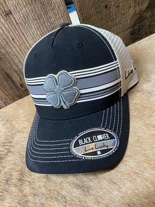 Black and Gray Black Clover Snap Back