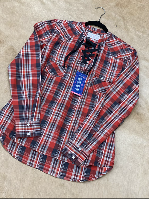 Panhandle red and black plaid