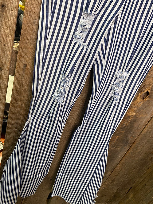 Striped High Wasted Bell Bottoms HXY02
