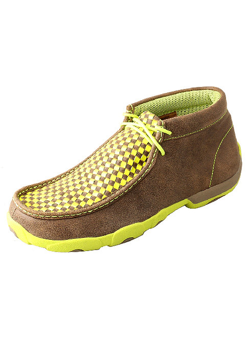 Men's Driving Moccasin – Bomber/Neon Yellow MDM0029