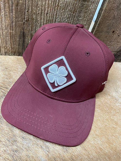 Maroon Black Clover Flex Fit