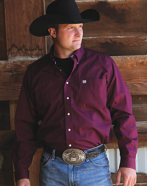Cinch Mens - Burgandy Classic Fit