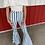 Thumbnail: High Rise Blue Stipe Bell Bottom Jeans