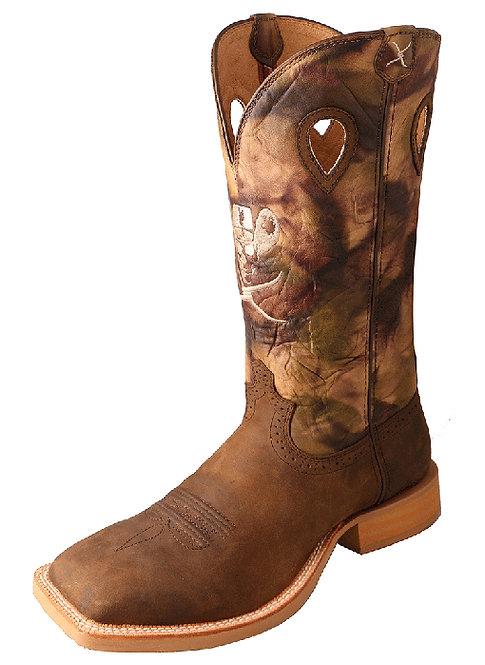 Men's Ruff Stock Boot – Crazy Horse Shoulder/Camo MRS0043