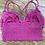 Thumbnail: Hot Pink Lace Bralette Floral