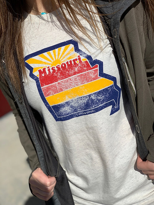 Missouri Retro Sunset Tee