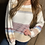Thumbnail: Cream multi colored off the shoulder soft style sweaters