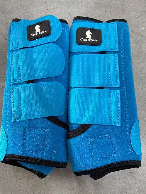 Blue Small Front Classic Equine Splint Boots