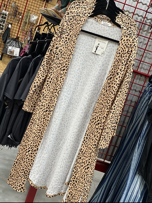 Cheetah print duster