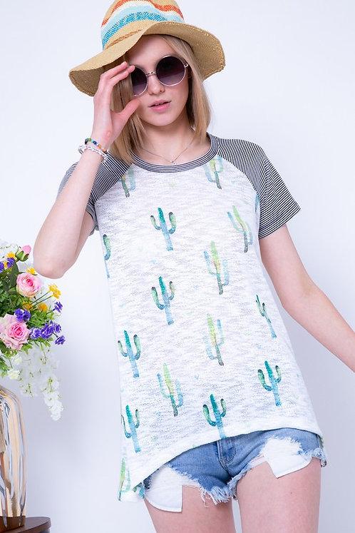 Round Neck Cactus Top