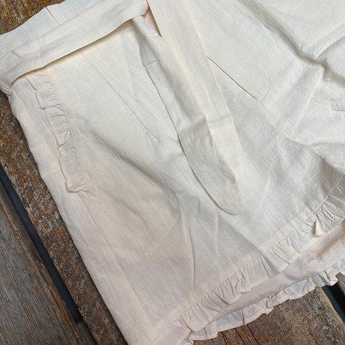Scalloped Cream Shorts
