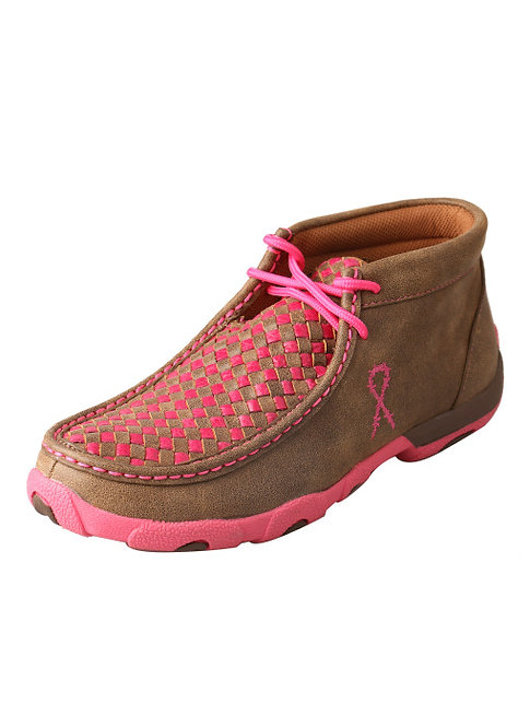 Women's Driving Moccasins – Bomber/Neon Pink WDM0026