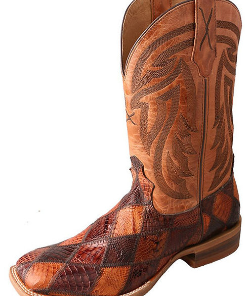 Men's Rancher Boot – Chocolate and Peanut Caiman/Tan MRAL012