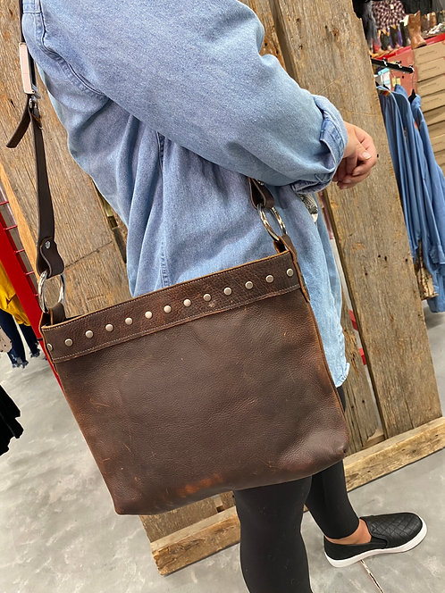 One of a kind 2L leather works purse