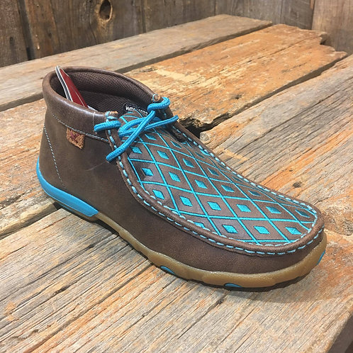 Women's Driving Moccasin – Bomber/Turquoise WDM0072