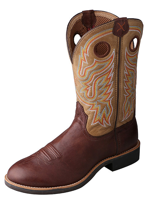 Men's Calf Roper Boot – Brown/Tan MCR0007