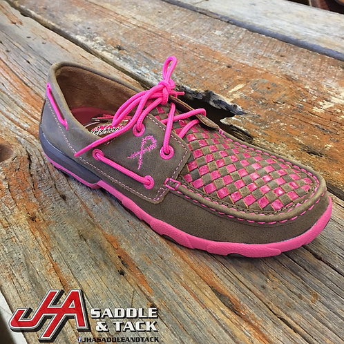 Women's Driving Moccasins – Bomber/Neon Pink Lows WDM0027