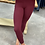 Thumbnail: Soft Maroon High Waisted Leggings with side pockets