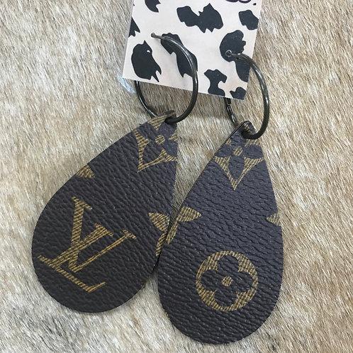 LV Leather Earings
