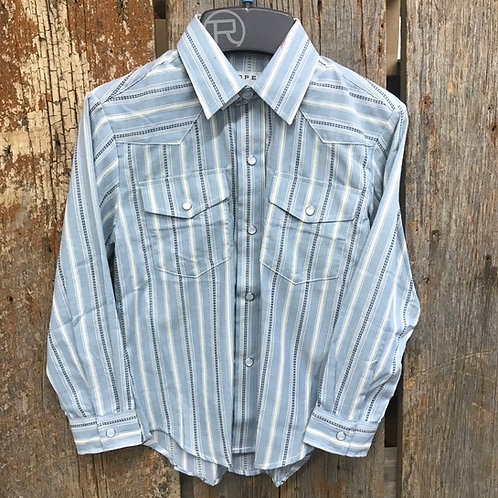 Boys Roper Button Up - stripped/blue/white